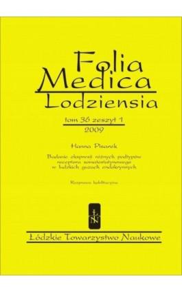 Folia Medica Lodziensia t. 36 z. 1/2009 - Hanna Pisarek - Ebook