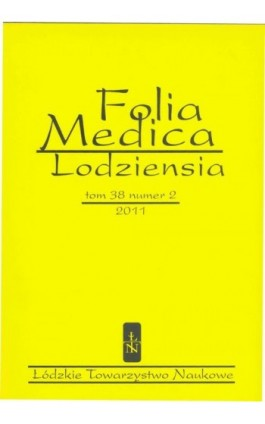 Folia Medica Lodziensia t. 38 z. 2/2011 - Praca zbiorowa - Ebook