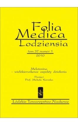 Folia Medica Lodziensia t. 37 z. 1/2010 - Praca zbiorowa - Ebook