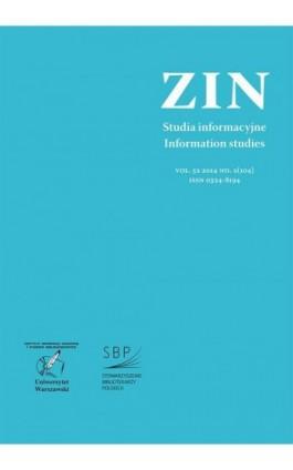 Zagadnienia Informacji Naukowej Vol. 52 2014 no. 2(104) - Ebook