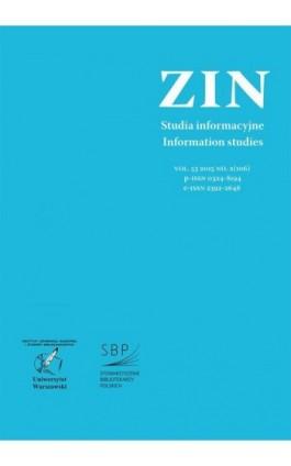 Zagadnienia Informacji Naukowej Vol. 53 2015 no. 2(106) - Ebook