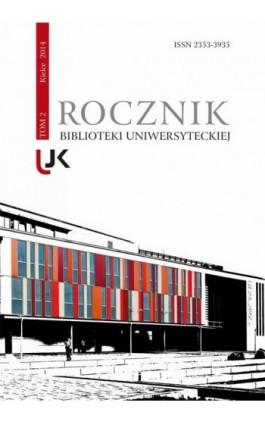 Rocznik Biblioteki Uniwersyteckiej, t. 2 - Ebook