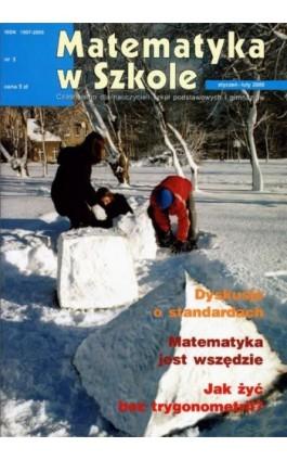 Matematyka w Szkole. Czasopismo dla nauczycieli szkół podstawowych i gimnazjów. Nr 3 - Praca zbiorowa - Ebook