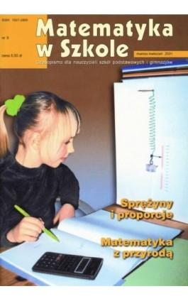 Matematyka w Szkole. Czasopismo dla nauczycieli szkół podstawowych i gimnazjów. Nr 9 - Praca zbiorowa - Ebook