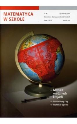 Matematyka w Szkole. Czasopismo dla nauczycieli szkół średnich. Nr 26 - Praca zbiorowa - Ebook