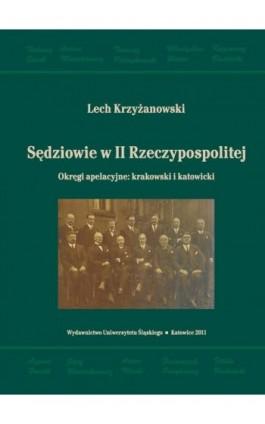 Sędziowie w II Rzeczypospolitej - Lech Krzyżanowski - Ebook - 978-83-226-2314-5