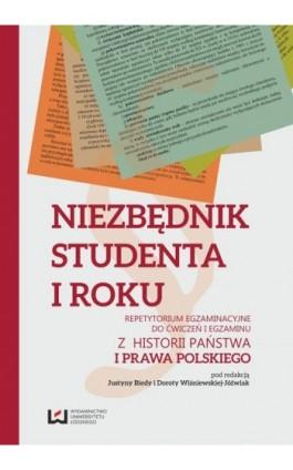 Niezbędnik studenta I roku. Repetytorium egzaminacyjne do ćwiczeń i egzaminu z historii państwa i prawa polskiego - Ebook - 978-83-7969-081-7