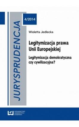 Jurysprudencja 4/2014 - Wioletta Jedlecka - Ebook - 978-83-7969-711-3