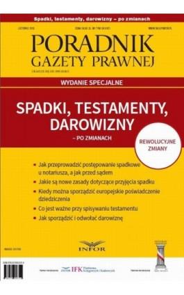 Spadki, testamenty, darowizny po zmianach - Infor Pl - Ebook - 978-83-7440-631-4