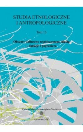 Studia Etnologiczne i Antropologiczne. T. 13: Obszary kulturowe współczesnego miasta – funkcje i pogranicza - Ebook
