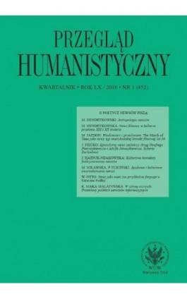Przegląd Humanistyczny 2016/1 (452) - Ebook