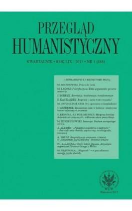 Przegląd Humanistyczny 2015/1 (448) - Andrzej Kołakowski - Ebook