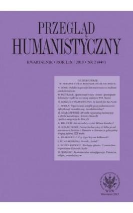 Przegląd Humanistyczny 2015/2 (449) - Ebook