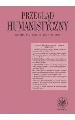 Przegląd Humanistyczny 2015/4 (451) - Ebook