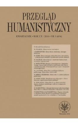 Przegląd Humanistyczny 2016/3 (454) - Ebook