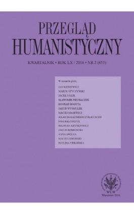 Przegląd Humanistyczny 2016/2 (453) - Praca zbiorowa - Ebook