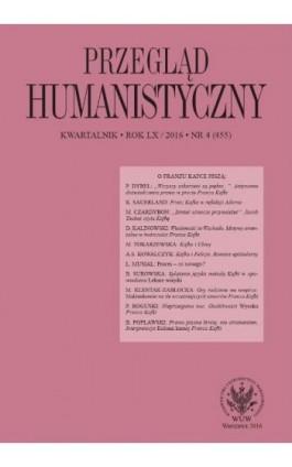 Przegląd Humanistyczny 2016/4 (455) - Ebook