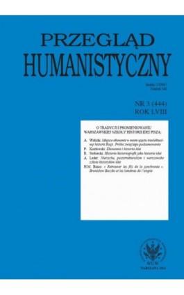 Przegląd Humanistyczny 2014/3 (444) - Ebook
