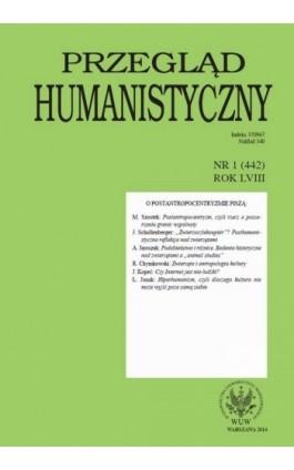 Przegląd Humanistyczny 2014/1 (442) - Ebook