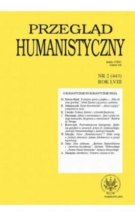 Przegląd Humanistyczny 2014/2 (443) - Ebook