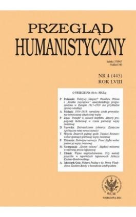 Przegląd Humanistyczny 2014/4 (445) - Ebook