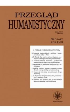 Przegląd Humanistyczny 2014/5 (446) - Ebook