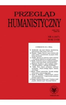 Przegląd Humanistyczny 2014/6 (447) - Ebook