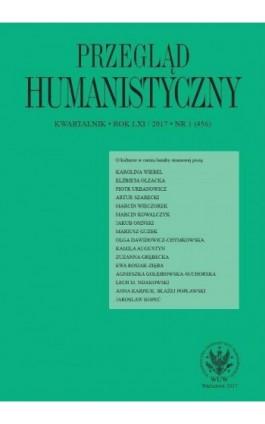 Przegląd Humanistyczny 2017/1 (456) - Ebook