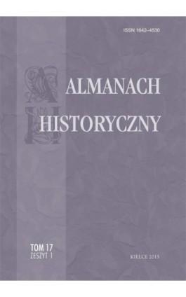Almanach Historyczny, t. 17, z. 1 - Ebook