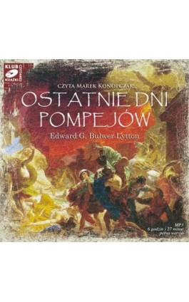 Ostatnie dni Pompejów - Edward G. Bulwer Lytton - Audiobook - 978-83-7699-920-3