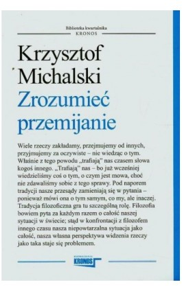 Zrozumieć przemijanie - Krzysztof Michalski - Ebook - 978-83-62609-25-3