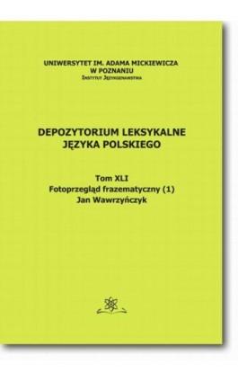 Depozytorium Leksykalne Języka Polskiego.  Tom XLI.  Fotoprzegląd frazematyczny (1) - Jan Wawrzyńczyk - Ebook - 978-83-7798-187-0