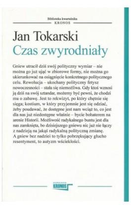 Czas zwyrodniały - Jan Tokarski - Ebook - 978-83-62609-35-2