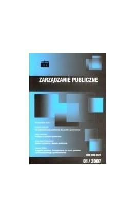 Zarządzanie Publiczne nr 1(1)/2007 - Ebook