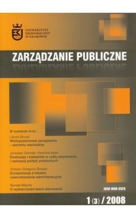 Zarządzanie Publiczne nr 1(3)/2008 - Ebook