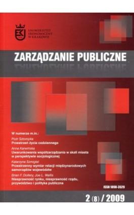 Zarządzanie Publiczne nr 2(8)/2009 - Ebook