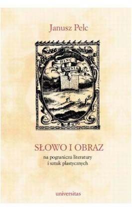 Słowo i obraz. Na pograniczu literatury i sztuk plastycznych - Janusz Pelc - Ebook - 978-83-242-1484-6