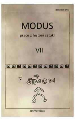 Modus. Prace z historii sztuki. Tom VII - Wojciech Bałus - Ebook - 978-83-242-1526-3