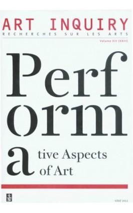 Art Inquiry. Recherches sur les arts Volume XIV (XXIII) - Praca zbiorowa - Ebook