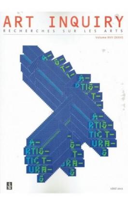 Art Inquiry. Recherches sur les arts t. XVII (XXVI) - Praca zbiorowa - Ebook
