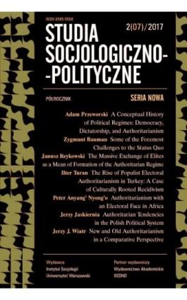 Studia Socjologiczno-Polityczne 2(07)2017 - Praca zbiorowa - Ebook