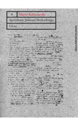 Agezylausz Juliusza Słowackiego - Maria Kalinowska - Ebook - 978-83-7453-144-3