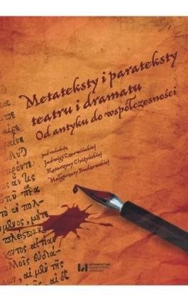 Metateksty i parateksty teatru i dramatu - Ebook - 978-83-8088-621-6