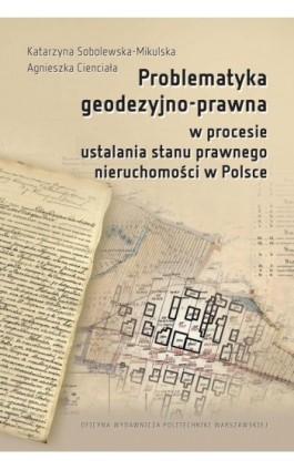 Problematyka geodezyjno-prawna w procesie ustalania stanu prawnego nieruchomości w Polsce - Katarzyna Sobolewska-Mikulska - Ebook - 978-83-7814-745-9