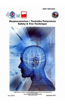 Bezpieczeństwo i Technika Pożarnicza, Vol.27/3/2012 - Praca zbiorowa - Ebook