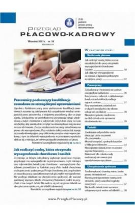 Przegląd płacowo-kadrowy wrzesień 2013 r. nr 59 - Ebook