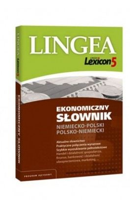 Ekonomiczny słownik niemiecko-polski i polsko-niemiecki (do pobrania) - Lingea - Ebook