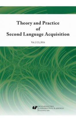 """Theory and Practice of Second Language Acquisition"" 2016. Vol. 2 (1) - Ebook"