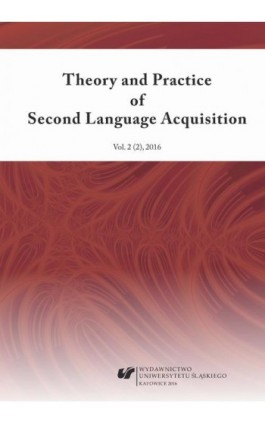 """""""Theory and Practice of Second Language Acquisition"""" 2016. Vol. 2 (2) - Ebook"""