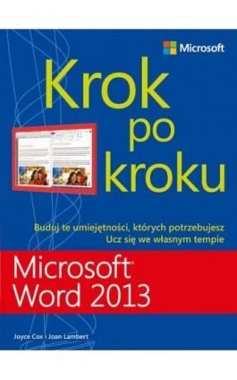 Microsoft Word 2013 Krok po kroku - Joan Lambert - Ebook - 978-83-7541-267-3